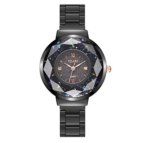 JZDH Relojes para Mujer Banda de Acero Inoxidable de Cuarzo Casual para Mujer NewV Strap Watch Reloj de Regalo de muñeca analógica Relojes Decorativos Casuales para Niñas Damas (Color : A)