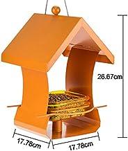 RFJJAL comedero para pájaros Alimentador de Aves Mascotas al Aire Libre Contenedor de Alimentos Silvestres Parque Jardín Tenedor casero Aves Suministros (Color : Orange)