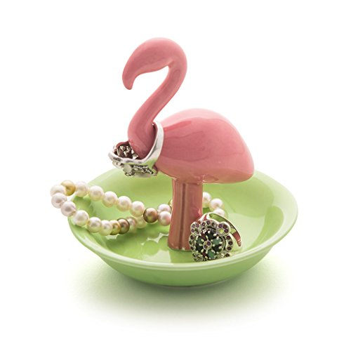 Balvi-FlamingoPortaAnillosenFormaFlamenco.Pequeñojoyero.FabricadoenPorcelana.