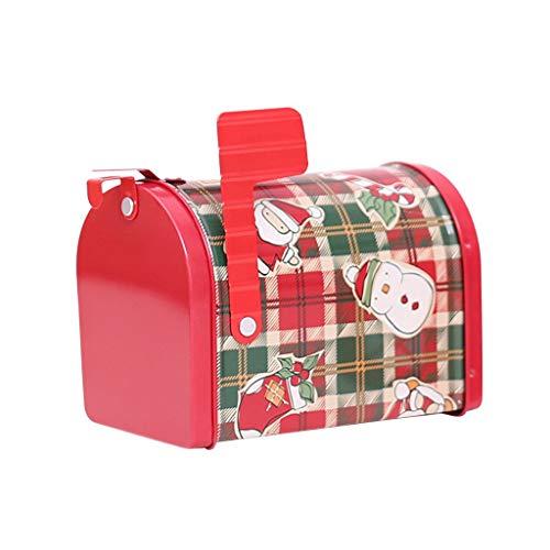 Youdong Noël Boîte aux Lettres Cadeau Boxwith Fer Creative Gift Box Peut-il présenter avec Serrure multifonctionnelle Bonbons Can pour Home Kids Décoration de Noël Noël Petite boîte