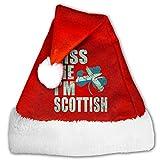 Gorro de Papá Noel unisex con texto en inglés 'Keep Calm and Drink Like A Sheehan', cómodo gorro de terciopelo rojo y blanco
