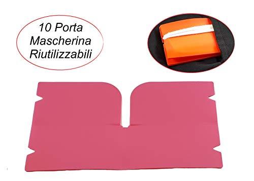 Porta Mascherina, 10 pezzi multicolore tascabili e riutilizzabili per mascherina di protezione