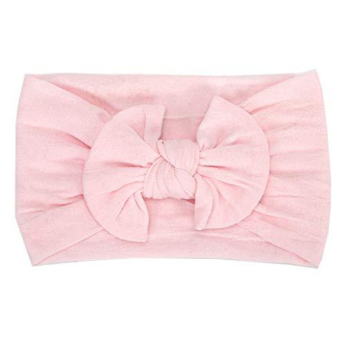 ProperLI Accessoires de cheveux bébé Filles, mignon bowknot bandeau serre-tête, Élastique et en nylon de couleur unie