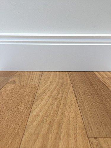 PVC-Boden Classic Holzoptik Natur | Muster | Vinylboden versch. Farben & Längen | Fußbodenheizung geeignet | PVC Platten strapazierfähig & pflegeleicht | robuster, rutschhemmender Fußboden-Belag