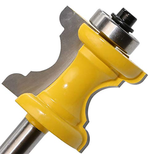 Zkenyao-Router bit 1/4 Shank Bullnose Bullna Bead Cara Molding Molding bit para Herramientas de carpintería, 1pc, Utilice Seguridad confiable