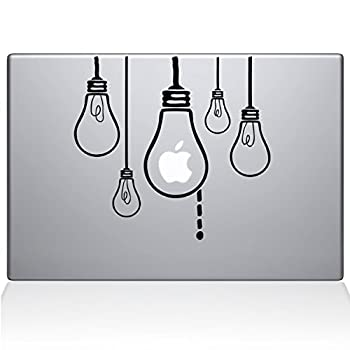 The Decal Guru 0190-MAC-11A-BLA Idea Light Bulbs Vinyl Sticker 11  Macbook Air Black