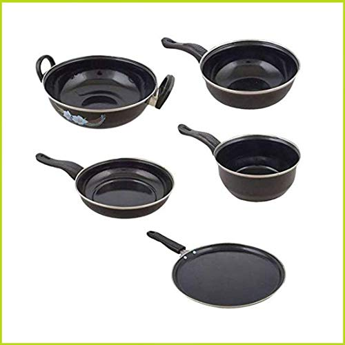 Fitbloom Cookindia Perfect Collections Non-Stick Set of 5 Pieces Induction Base Cookware...