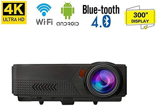 Projektor Native 1080P HD-Videoprojektor Android Video HDMI-Projektor 19 000 Lumen bis zu 300 Bildanzeige Ideal für PPT-Geschäftspräsentationen Heimkino-Unterhaltung Partys im Freien Spiele Per