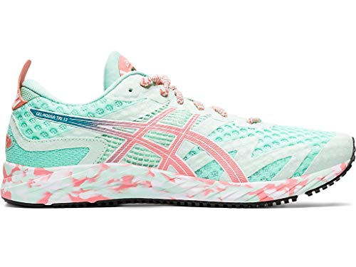 ASICS Women's Gel-Noosa Tri 12 Running Shoes, 10M, Fresh ICE/Guava
