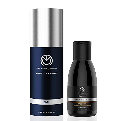 The Man Company Refresher Combo (Bleu Body Perfume, Charcoal Face Wash) | Made in India