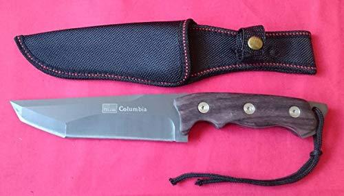 Unbekannt Jagdmesser Columbia Outdoor Edelstahl Retro Tanto Messer USA Saber Camping Angeln Freizeit
