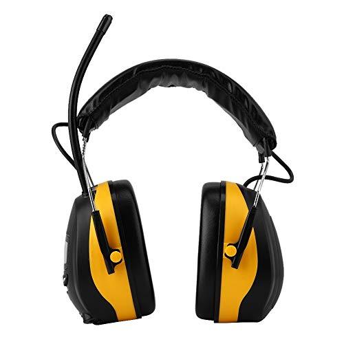 Hazmejor gehoorbescherming - NRR 28dB elektronische gehoorbescherming LCD-display AM FM-radio oorbeschermer geel