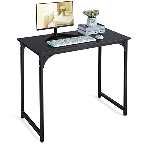 Writing Computer Desk Modern Sturdy Office Desk PC Laptop Notebook Study Table for Home Office Black