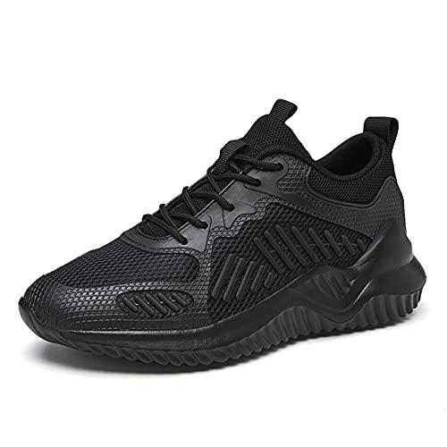 WKNBEU Zapatos para Caminar Ligeros y Transpirables para Hombre Entrenadores para Correr Zapatillas Deportivas para Correr Fitness Tenis Informal Zapatos al Aire Libre Black-4.5UK/38EU/5.5US