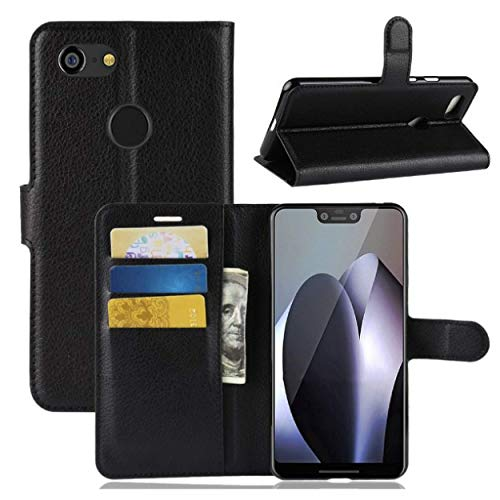 Google Pixel 3 XL Premium Leather Case with Wallet Card Holders, Defender
