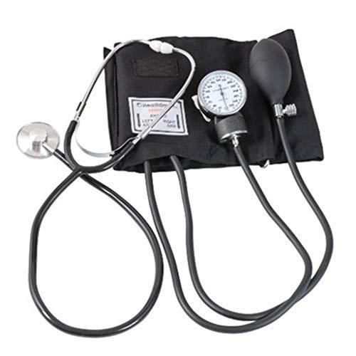 Life HS Presión Arterial Manual Reloj Estetoscopio Brazo médico Esfigmomanómetro Doble Tubo Estetoscopio de Cabeza Doble, Estetoscopio de Salud Familiar, Esfigmomanómetro de Brazo médico