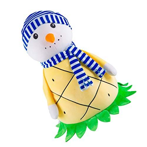 NUOBESTY Muñecos de Peluche de Navidad para Decoración Muñeco de Nieve Relleno de Frutas Juguete Animal Sofá Suave Almohada Adornos de Mesa para El Hogar Decoración de Fiesta de Navidad