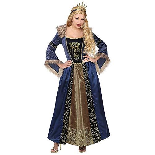 WIDMANN Srl traje de Reina Medieval de mujer Adultos, Multicolor, wdm07131