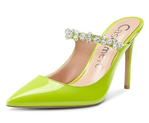CASTAMERE Zapatos de Tacón Mujer Moda Cristal Sandalias Tacón de Aguja 10CM