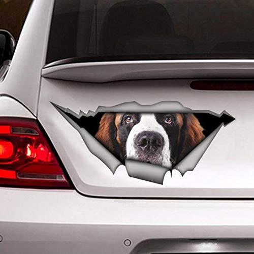 DONL9BAUER Adhesivo de San Bernardo, vinilo adhesivo, decoración de coche, calcomanía de mascota, perro