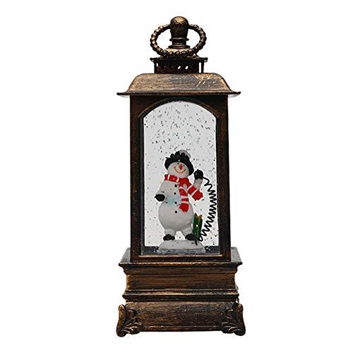 TheBigThumb Regalo para esposa del marido, regalo de cumpleaños para mujer novedad musical lámpara de Navidad portátil linterna luz nocturna (bronce muñeco de nieve)