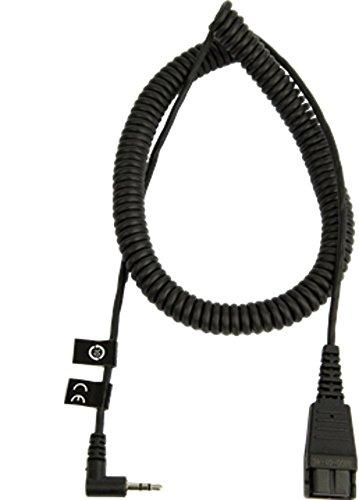 Jabra QD auf 2,5-mm-Klinkenstecker Headset-Spiralkabel, 2 Meter lang