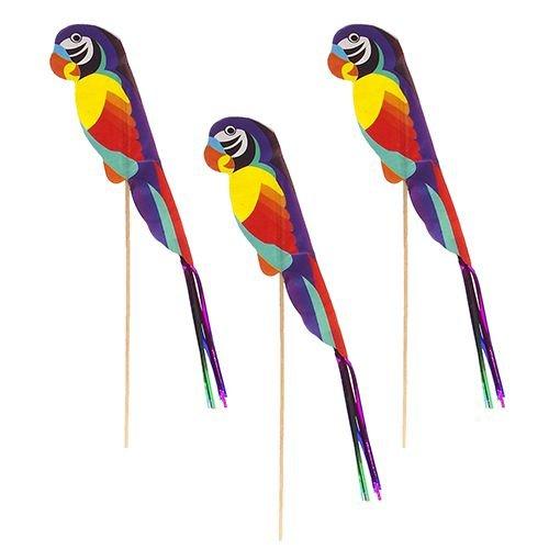 "Deko-Picker ""Papagei"" (farbig sortiert / 21,5 cm - 100 Stück)"