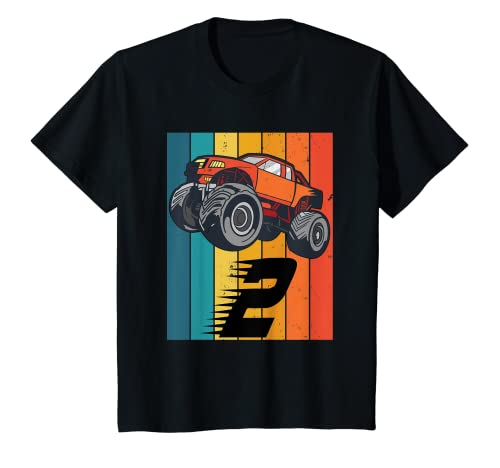 Niños 2 Años Monster Truck Boy Car Birthday Camiseta