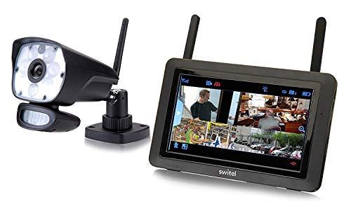 """Switel HSIP6000, HD - Videoüberwachungs-System mit LED-Licht, drahtlos, wetterfest, Nachtsichtfunktion, Gegensprechfunktion mit 7"""" Touchscreen-Monitor"""