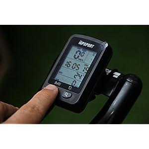 iGPSPORT iGS20E (versión española) - Ciclo computador GPS Bicicleta y Ciclismo. Cuantificador grabación de Datos y rutas. Pantalla Anti-Reflejos y de Gran Contraste. Batería hasta 25 Horas. IPX6