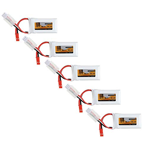 KINGDUO 5 Pezzi 7.4 V 350 mAh 60C 2S Lipo Batteria Connettore Jst per Mjx X401H X402 Jxd 515 515 W 515 V Rc Drone