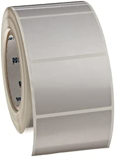 Pack of 10000 Brady DAT-170-969-10 1.6 Width x 0.375 Height B-969 Metallized Polyester Matte Finish Silver Datab Dot Matrix Printable Label