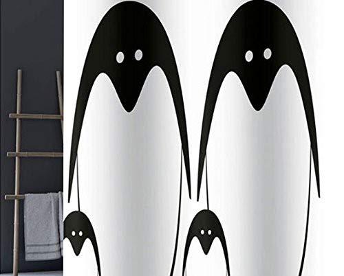 Gedy Duschvorhang g-peng weiß/schwarz 180x 200(6018772730)