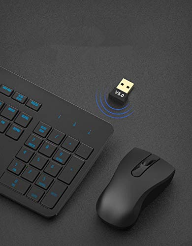 Flitzip Bluetooth 5.0 Usb Dongle Adapter for PC, Bluetooth Receiver for Laptop Computer Desktop, Support Windows 10/8/8.1/7, Wireless Transfer for Headset Speaker Keyboard Mouse Printer, Plug and Play
