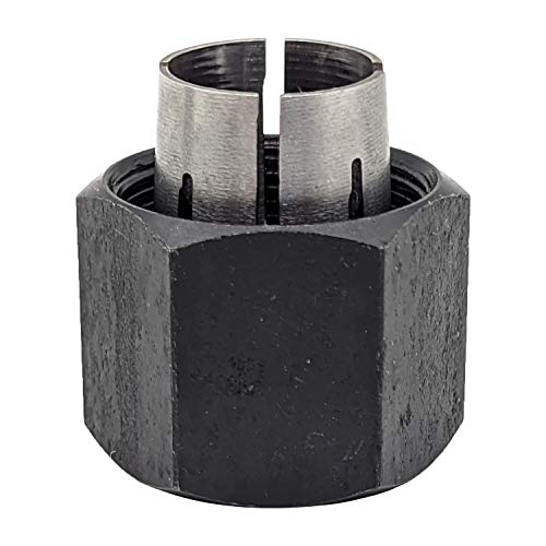 Yeesonda 19691 1/4 inch Router Collet Replaces Bosch 2610906283 Hitachi 323-293 RC025DW 326286-04