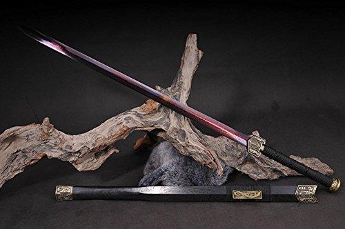 FARDEER Handgemachte chinesische Longquan Schwert Hohes Mangan-Oktaeder Han Schwert Nicht offene Kante HJ-011-16-003