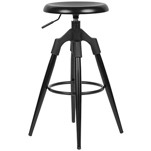 Wohnling barkruk metaal 72-80 cm | Design barstoel 100 kg maximale belastbaarheid | barkruk industrieel | bureaustoel zonder leuning