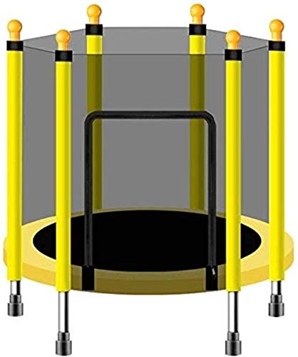 LuoMei Trampoline for Adults and Kids Trampoline with Enclosure Net Outdoor and Indoor Foldable Adult Toddler Trampoline Bearing 552 Lbs/250Kgyellow