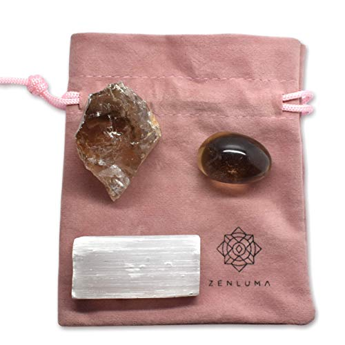 Zenluma Raw Natural Smoky Quartz Crystal (1.5' - 2') for Home Decor, Crystal Healing and Mineral Collecting. Raw Crystals, Gemstones and Crystals for Reiki, Meditation, Chakra