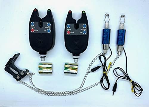 Elektronische Bissanzeiger, Bissanzeiger mit Licht Satz mit Optionen zur Auswahl (Blau 2er-Set)