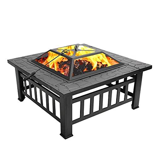 Brasero Exterior Poso de Fuego ardiente de Madera, Patio calefacción brasero, Horno de Cocina de carbón, decoración de jardín Fuego DE Fuego