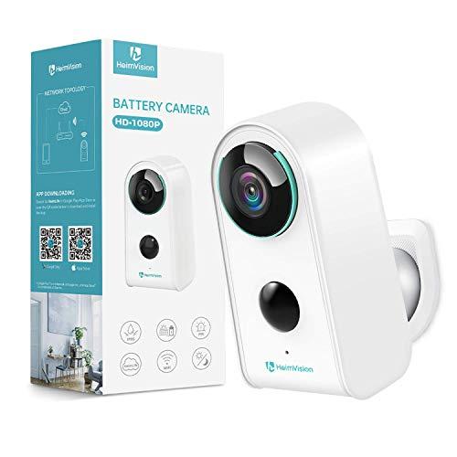 HeimVision HMD3 Überwachungskamera, 1080P Akku Kabellose WLAN Kamera, 2,4GHz WiFi, PIR Bewegungsmelder, wasserdichte Sicherheitskamera, Gegensprechfunktion, IR-Nachtsicht und SD-Kartenslot