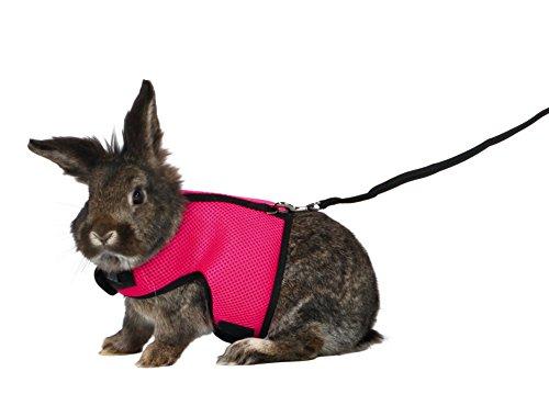 Trixie 61514 Softgeschirr mit Leine für große Kaninchen, Nylon, 25–40 cm, 1,20 m
