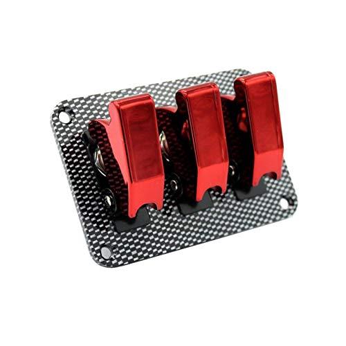 SANYUE Zhengwang Department Store Ajuste para el Interruptor de Palanca de Encendido de Encendido de 12V 20A con Cubiertas Rojas Panel de Fibra de Carbono