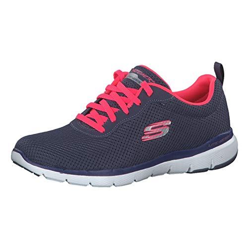 Skechers Flex Appeal 3.0-First Insight, Zapatillas Mujer, Multicolor (SLTP Black Mesh/Trim), 37 EU