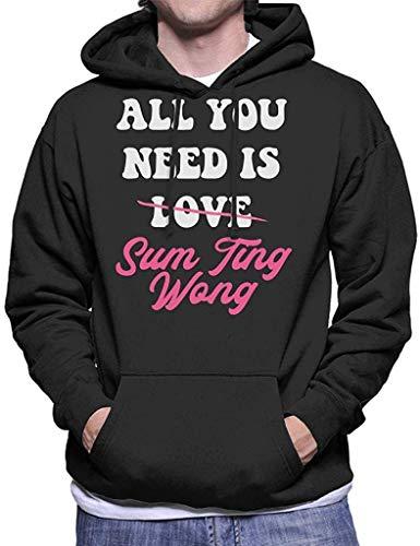 SDFGSE All You Need is Sum Ting Wong UK Drag Race Men's Hooded Sweatshirt XL