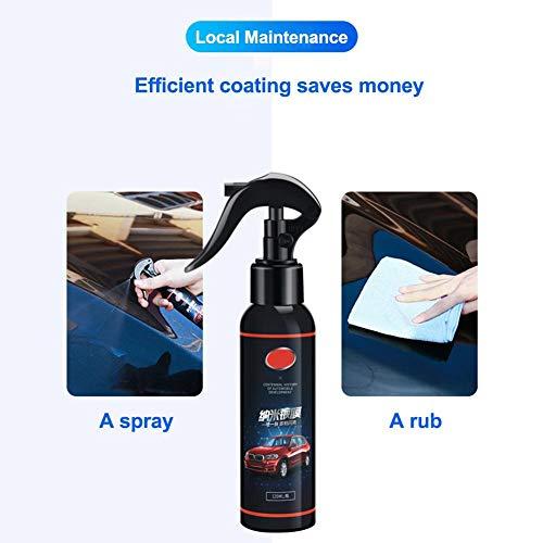 Thrivinger 120ml Anti-Scratch Car Liquid Ceramic Coat Wax Super Hydrophobic Glass Spray Coating Sellants Remover arañazos Kit de Amortiguador de Coche