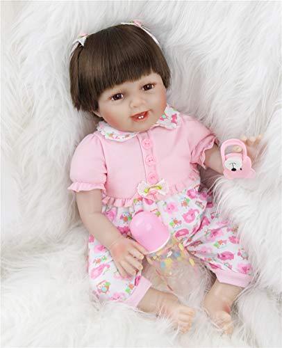 ZIYIUI 22Pollice Realistica Bambola Reborn Bambino Bambole Femmina Bambolotti di Silicone Contenta Ragazza Dolls Bambini Regalo di Natale 55cm