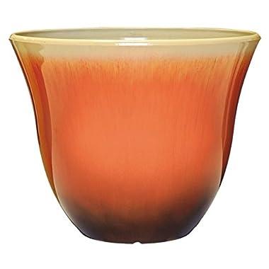 Honeysuckle Planter, Patio Pot, 15  Tequila Sunrise