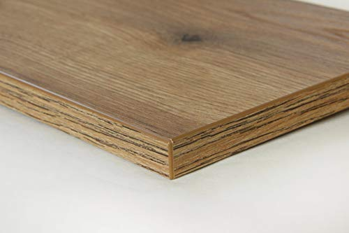 Schreibtischplatte 150x80 aus Holz DIY Schreibtisch direkt vom Hersteller vielseitig einsetzbar - Tischplatte Arbeitsplatte Werkbankplatte mit 125kg Belastbarkeit & Kratzfestigkeit - Sunshine Eiche